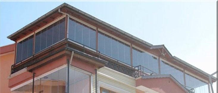 cam balkon teras kapatma bornova