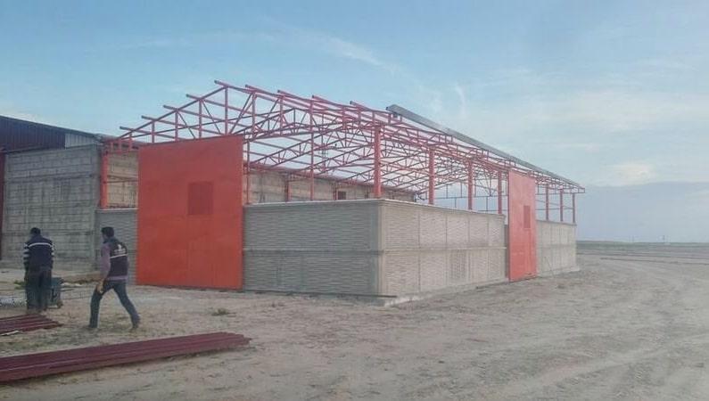 demir konstrüksiyon çatı İzmir