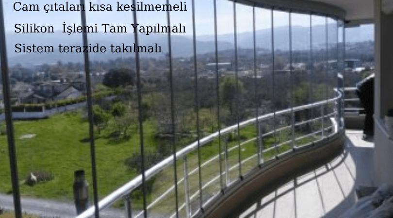 Cam balkon katlanır