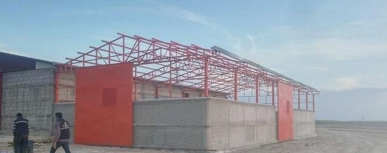 Demir çatı yapımı