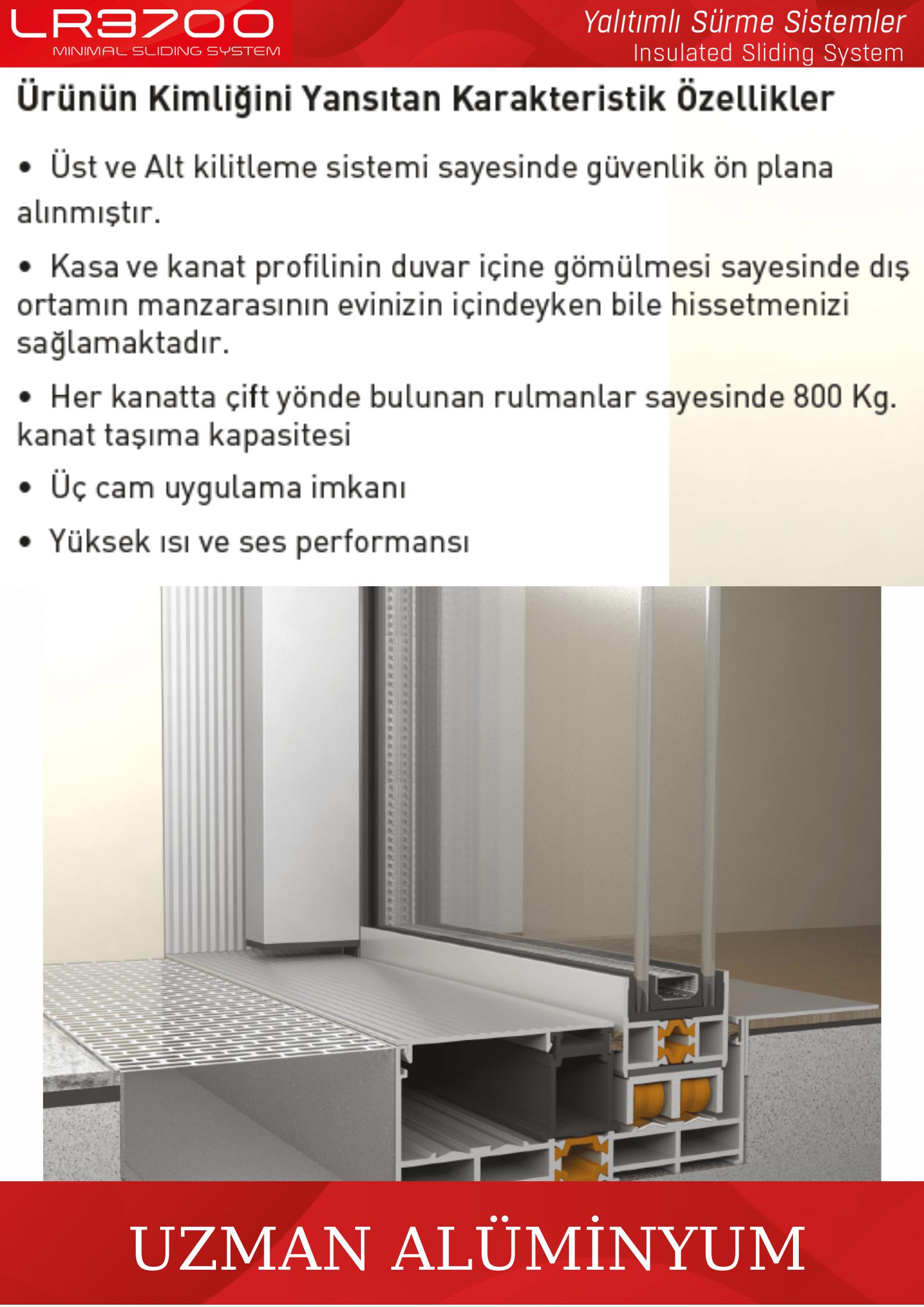 LR-3700 sürgü İzmir