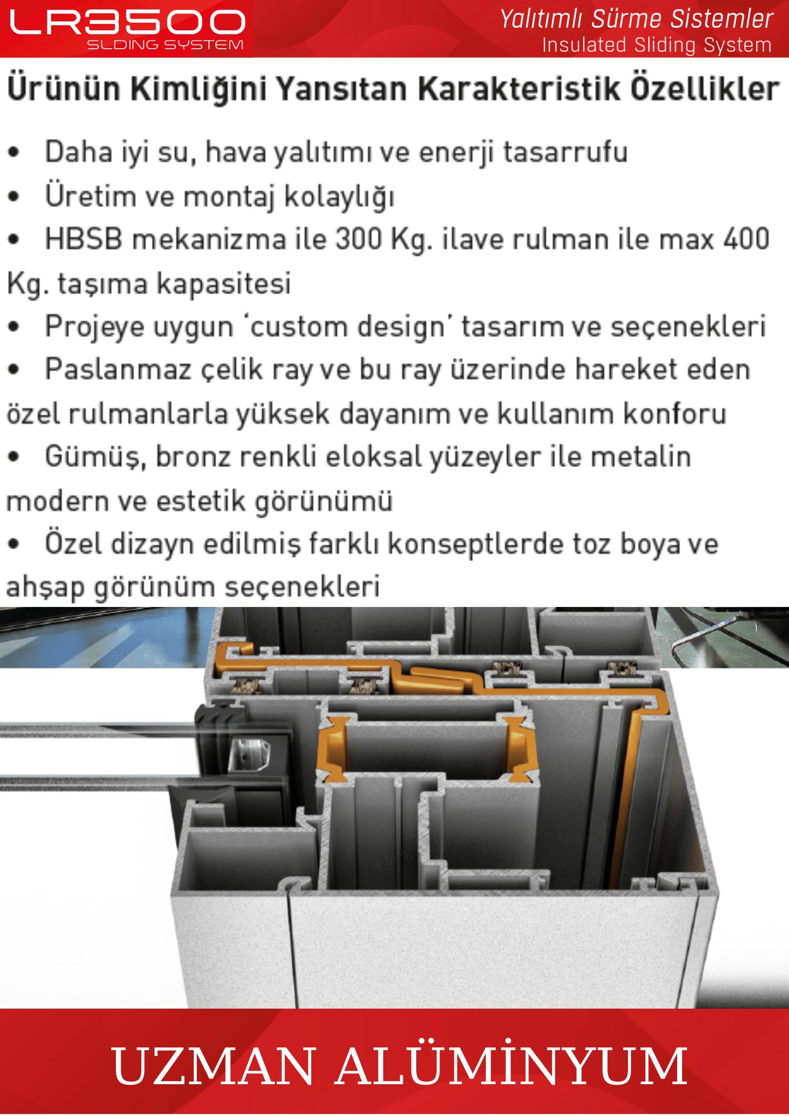 LR-3500 sürme sistemleri