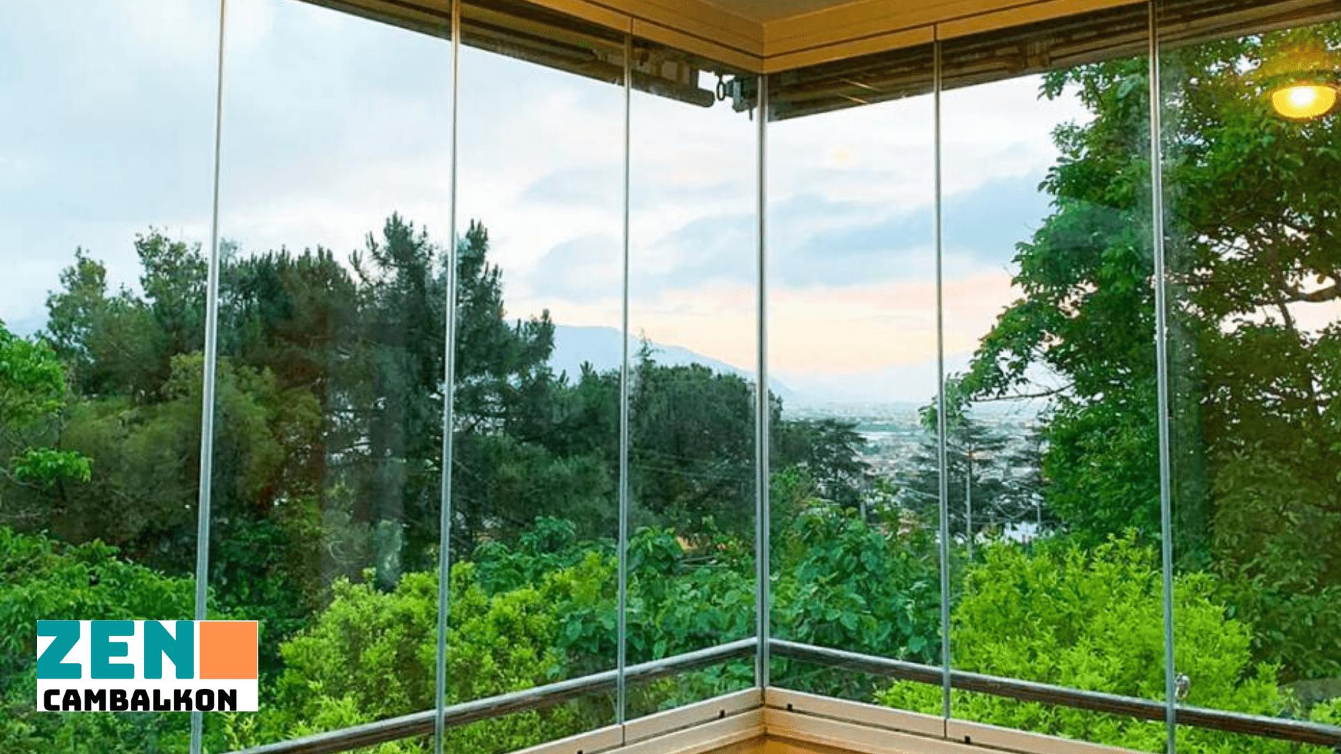 Cam balkon önü tente