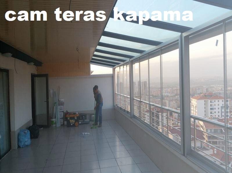 İzmir sabit cam tavan teras kapama