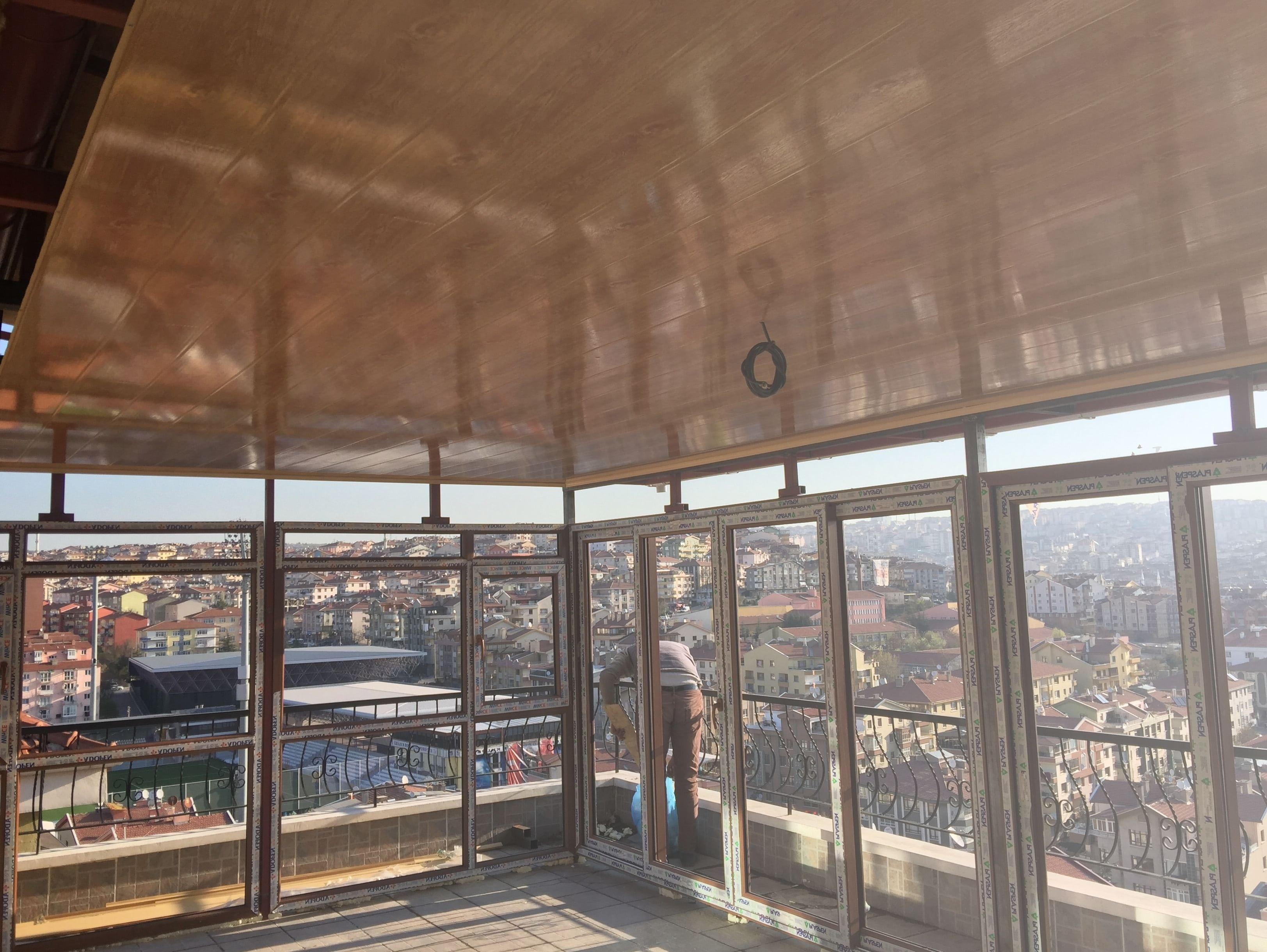 bornova teras kapatma tavan
