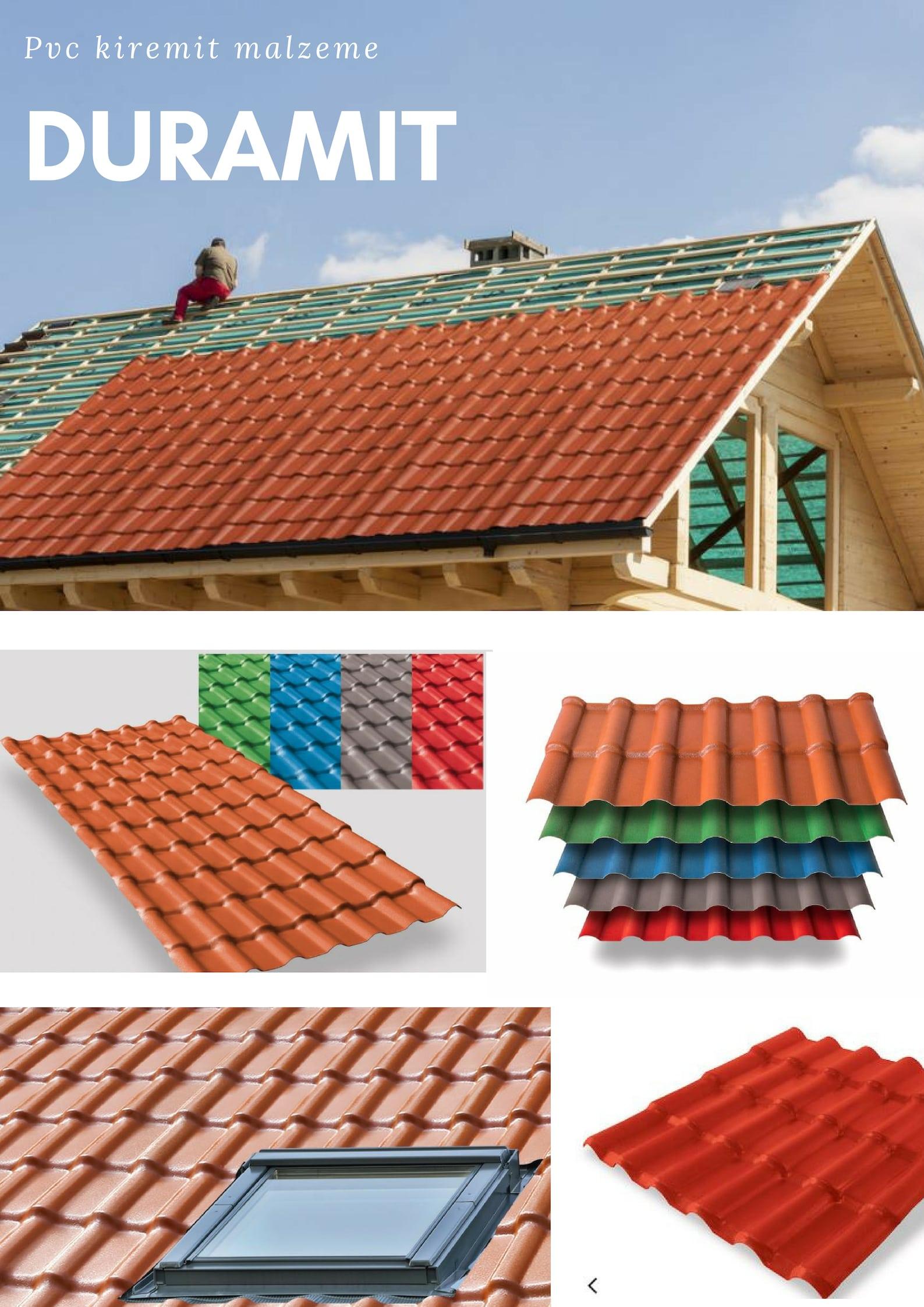 izmir çatı ürünü duramit pvc kiremit