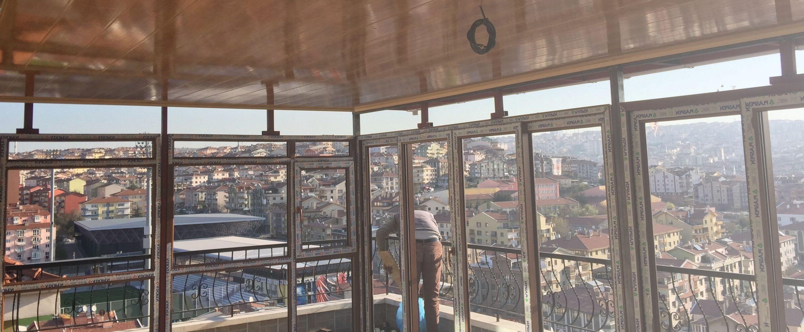 İzmir teras kapatma görselleri