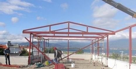 İzmir demir çatı pergola
