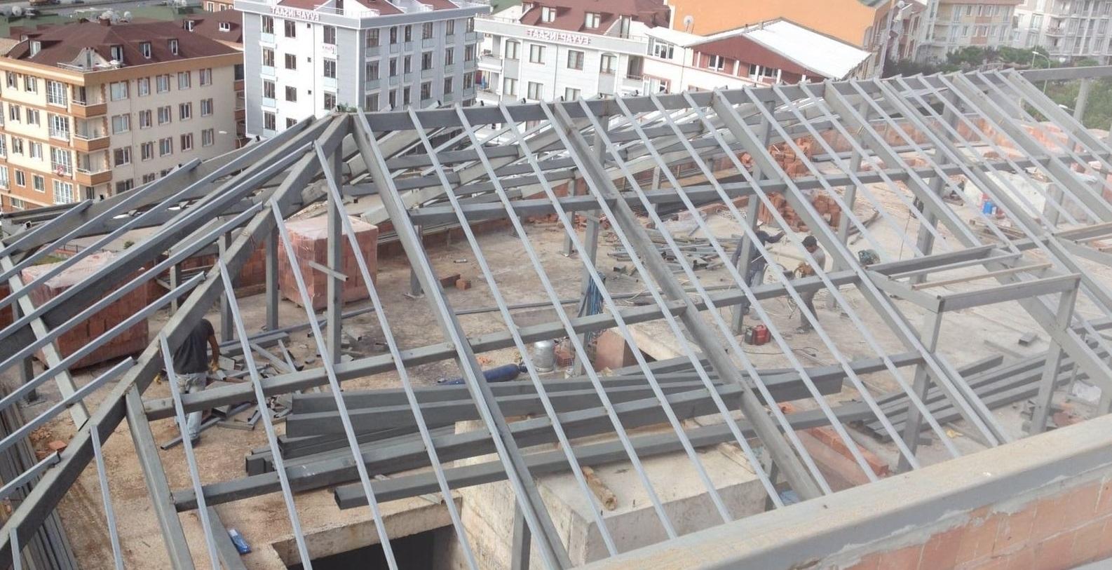 İzmir demir çatı pergola modelleri