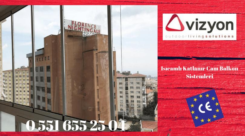 Isıcamlı katlanır cam balkon Vizyon İzmir