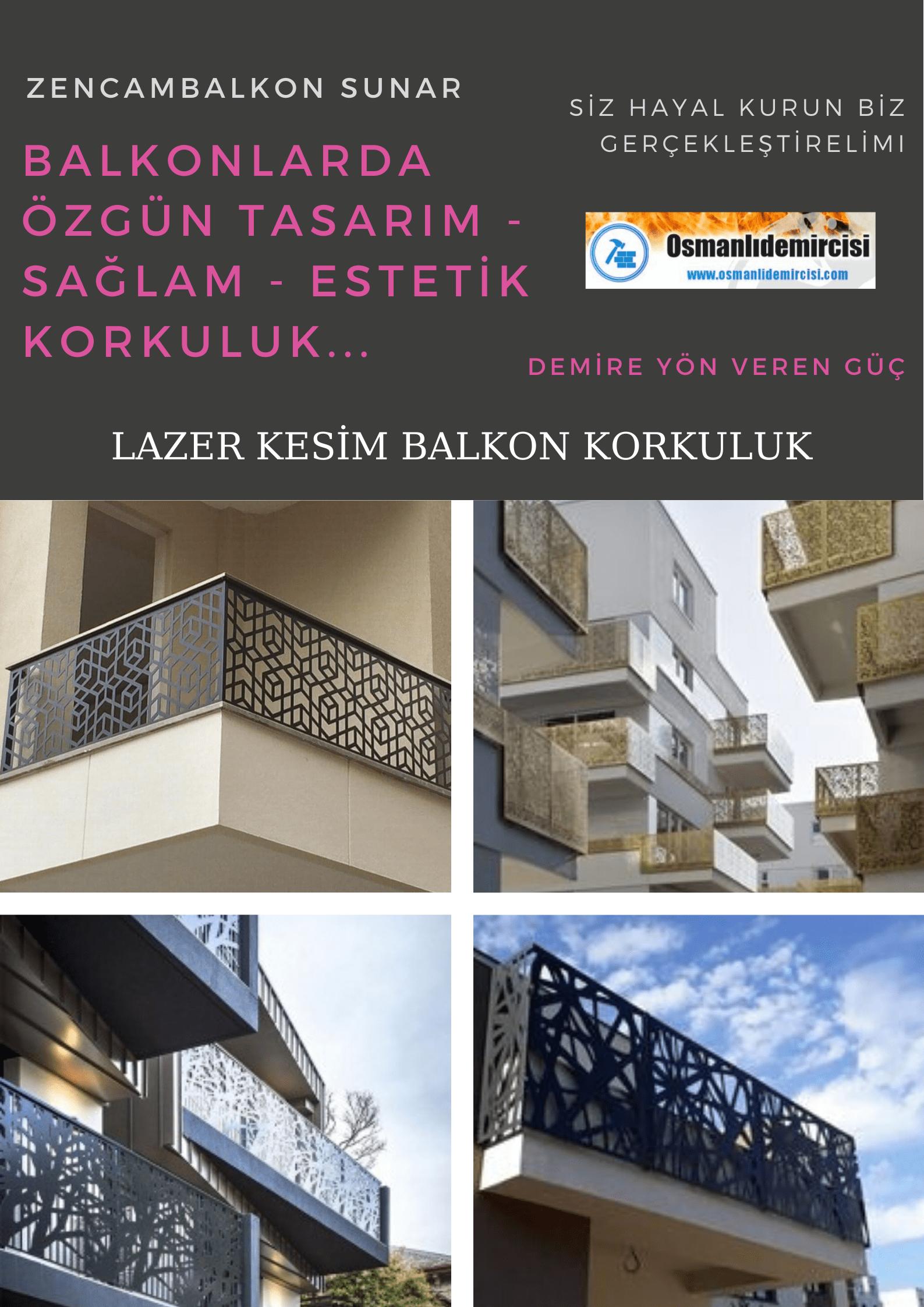 Lazer kesim balkon korkuluk modelleri İzmir