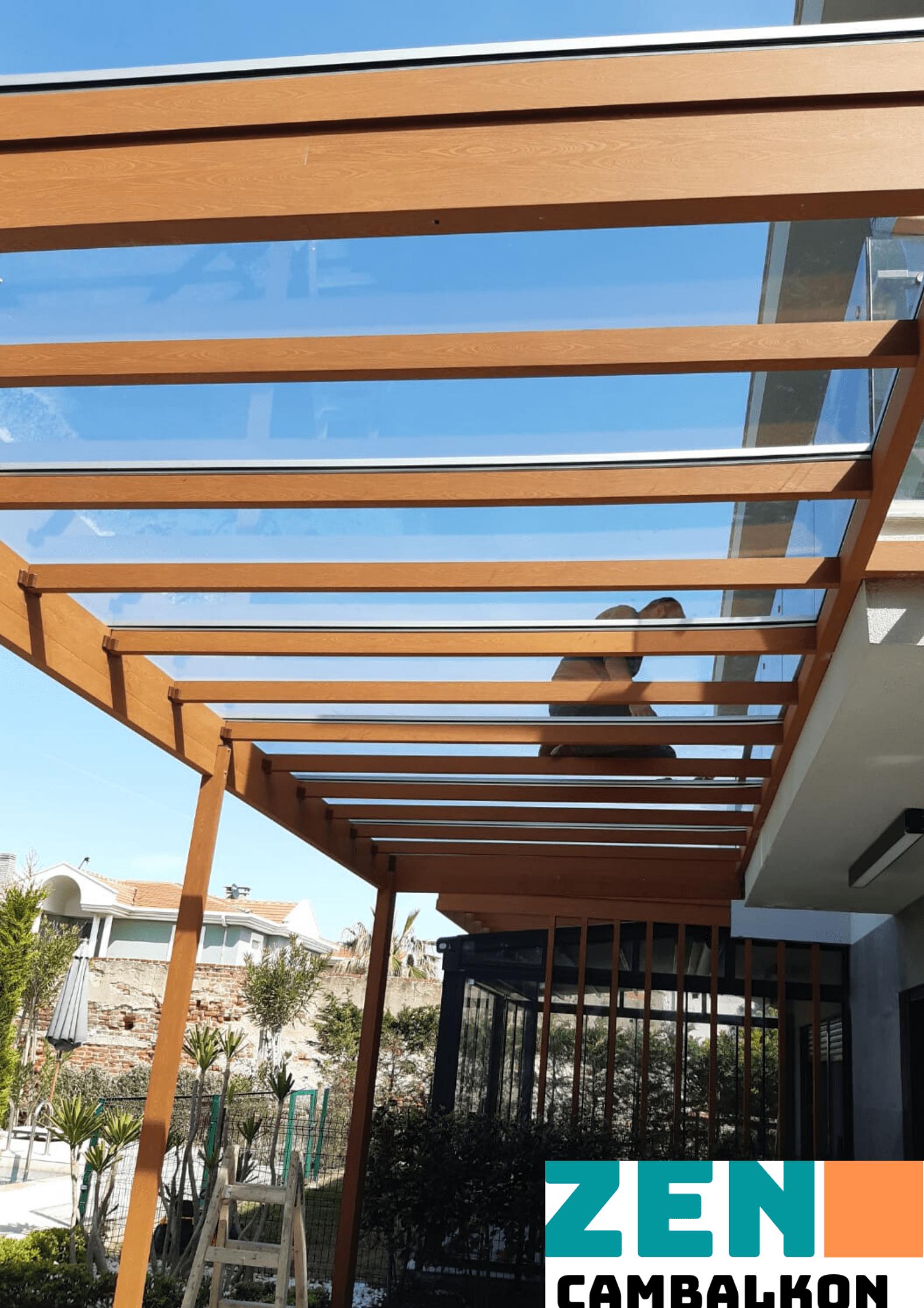 Alüminyum profilli cam çatı İzmir