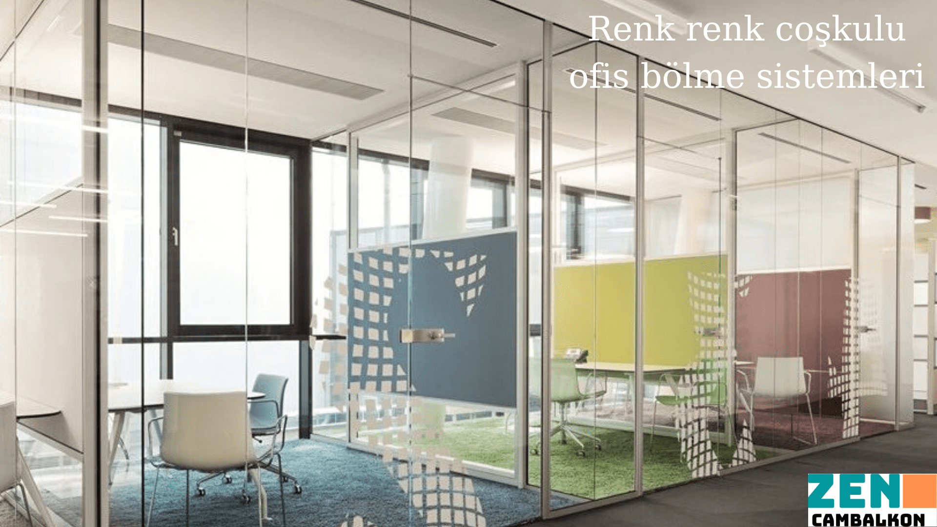 Renkli ofis içi cam bölme İzmir
