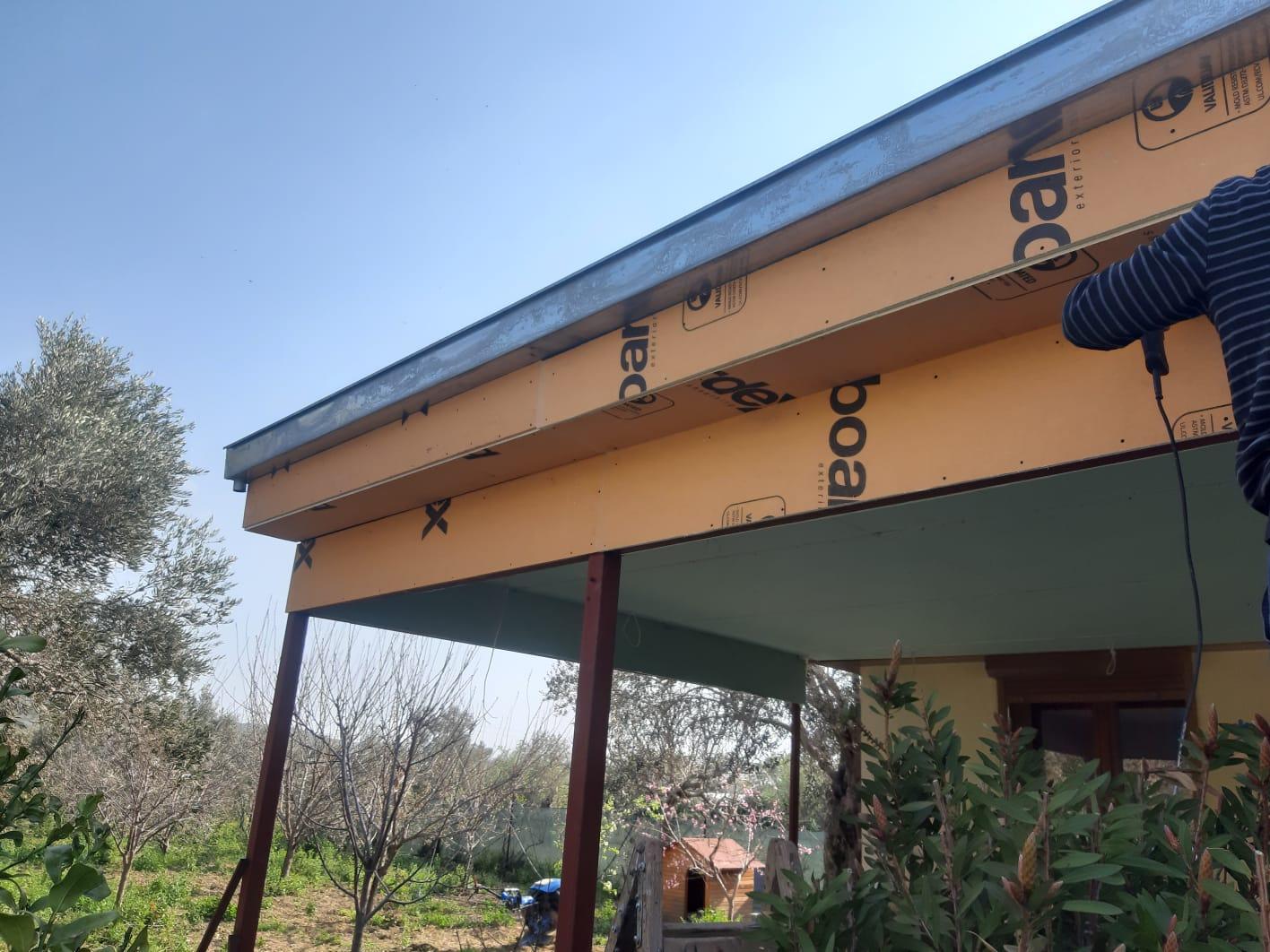 kış bahçesi demir pergola çatı