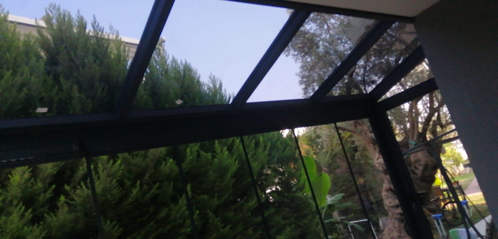 kış bahçesi cam tavan uygulaması