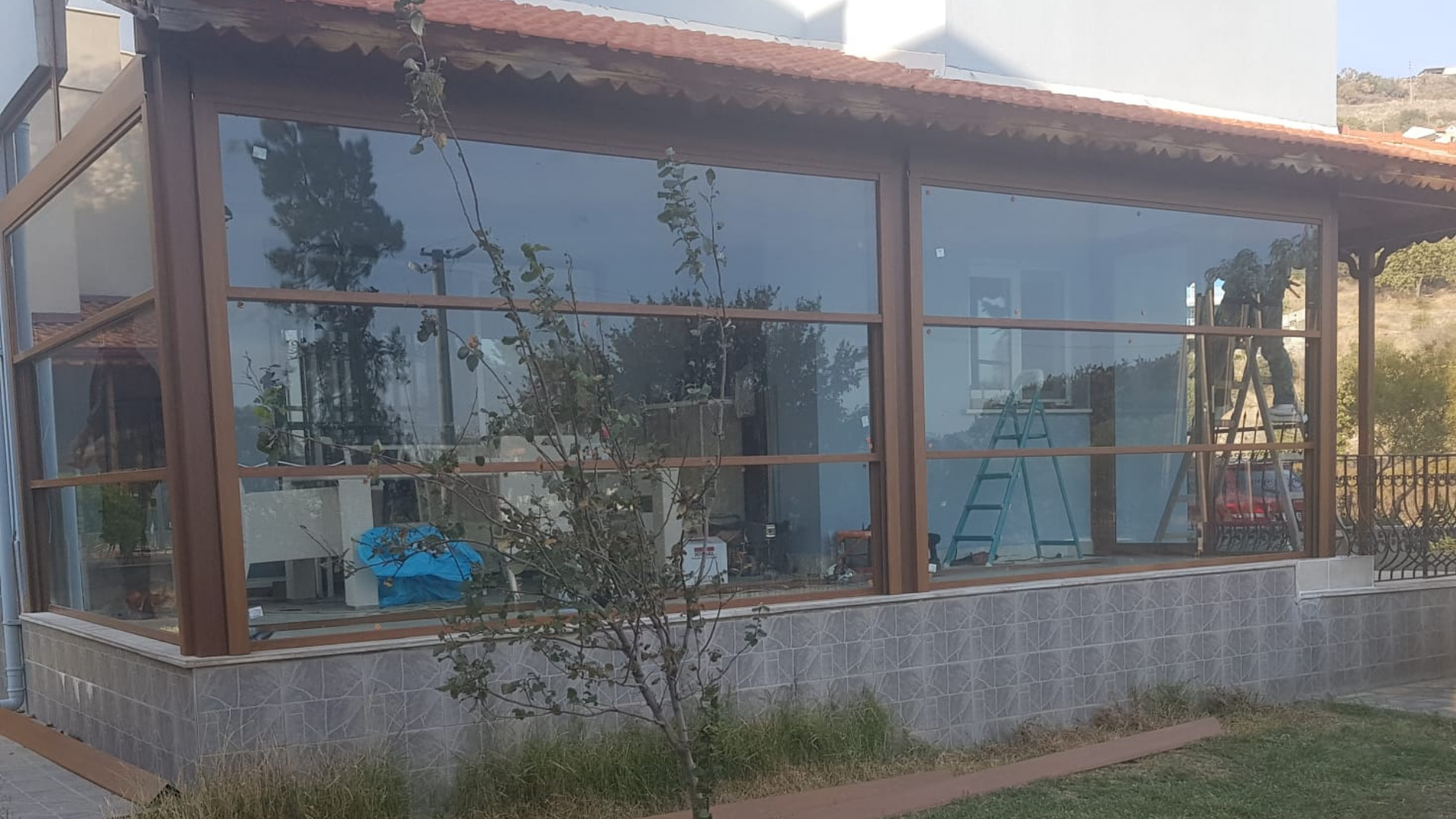 Giyotin camlı kış bahçesi İzmir