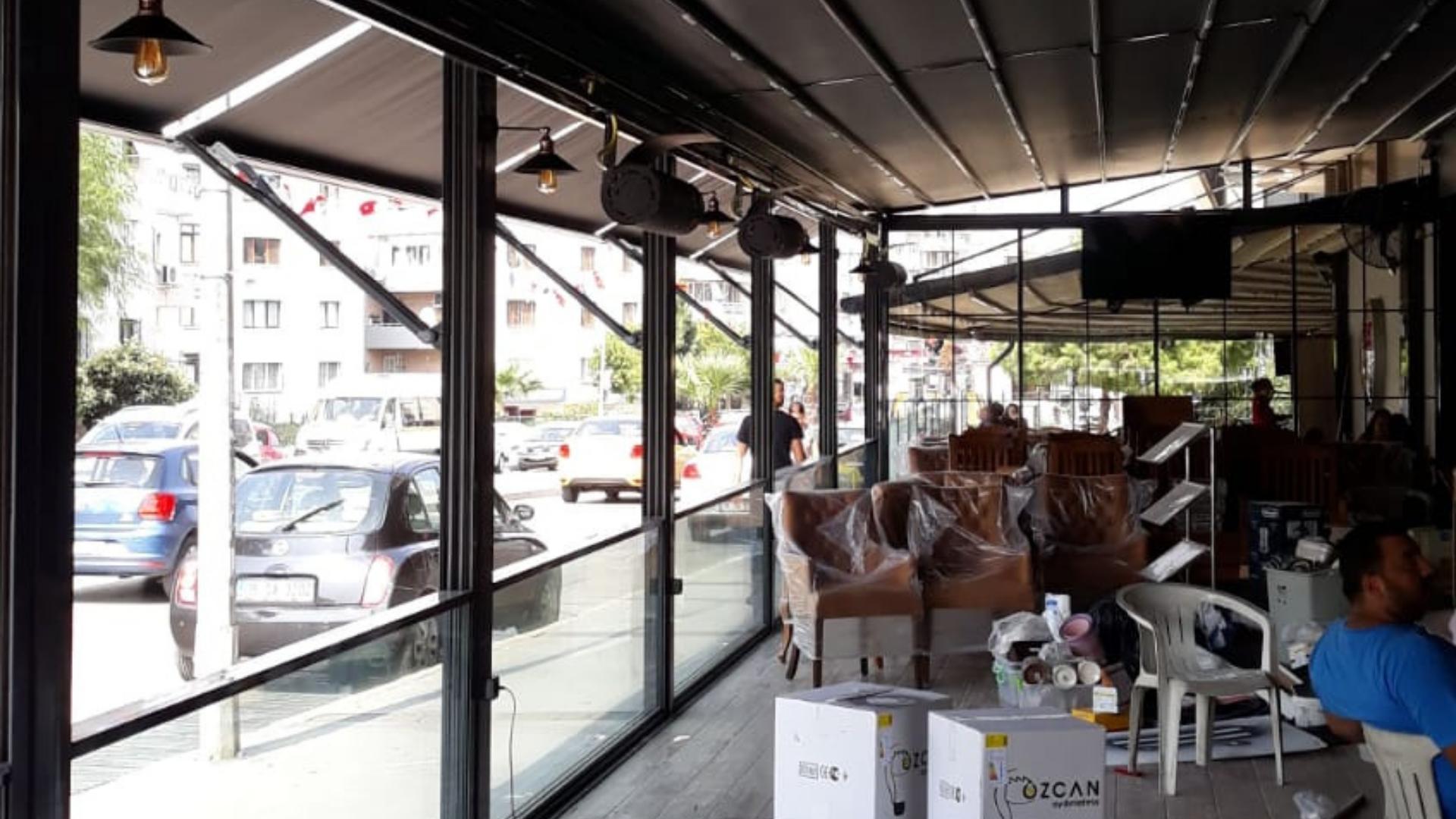 İzmir motorlu cam giyotin