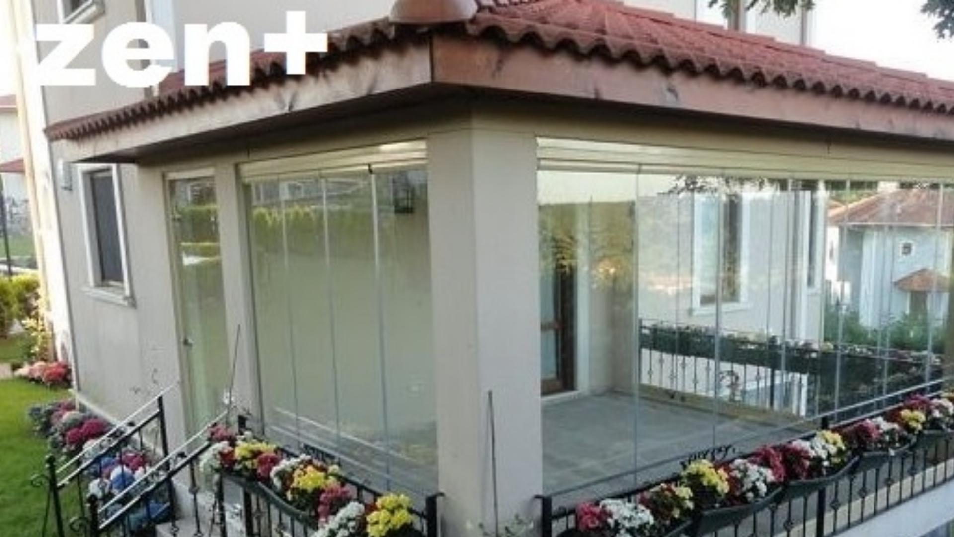 Kiremit pergola çatı cam balkon İzmir