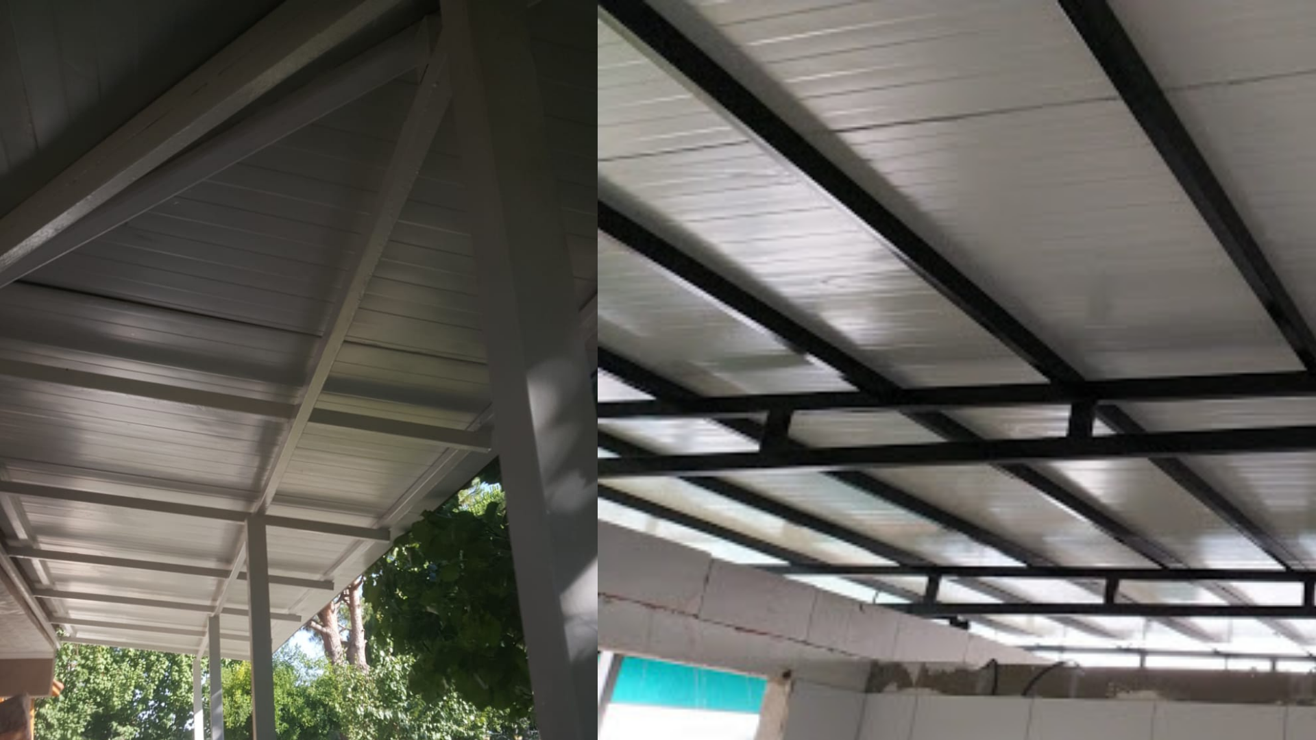 kış bahçesi sandviç panel çatı